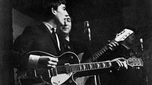 George and his black 1957 Gretsch Duo Jet