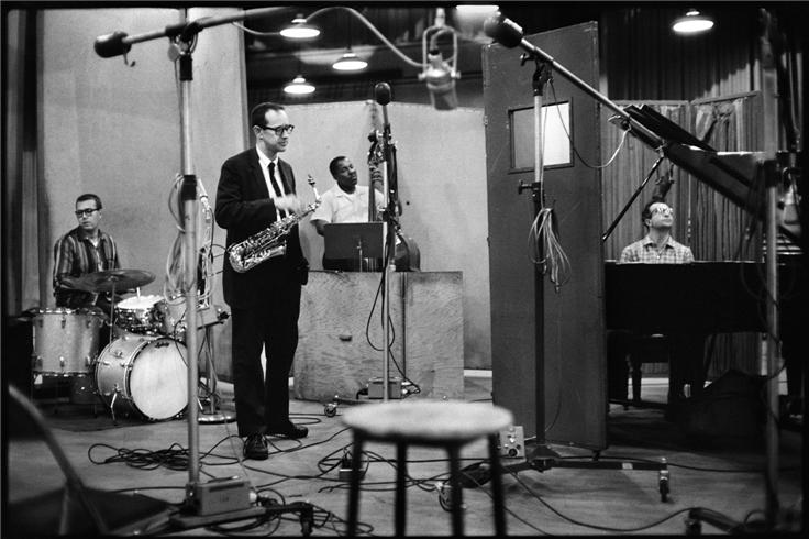 Paul Desmond with Brubeck in the studio