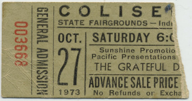 Grateful Dead Ticket Oct 27, 1973