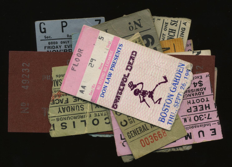 Old concert ticket stubs: The Grateful Dead : Bruce's Blog